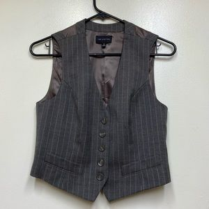 The Limited Wool Blend Pinstripe Conductor Vest XS